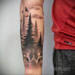 татуировка лес на предплечье 25.10.2020 №024 -forearm tattoo- tatufoto.com