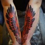 татуировка феникс на предплечье 25.10.2020 №009 -forearm tattoo- tatufoto.com