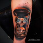 татуировка часов на предплечье 25.10.2020 №024 -forearm tattoo- tatufoto.com