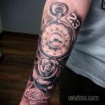 татуировка часов на предплечье 25.10.2020 №040 -forearm tattoo- tatufoto.com