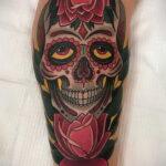 татуировка череп на предплечье 25.10.2020 №023 -forearm tattoo- tatufoto.com