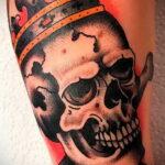 татуировка череп на предплечье 25.10.2020 №025 -forearm tattoo- tatufoto.com