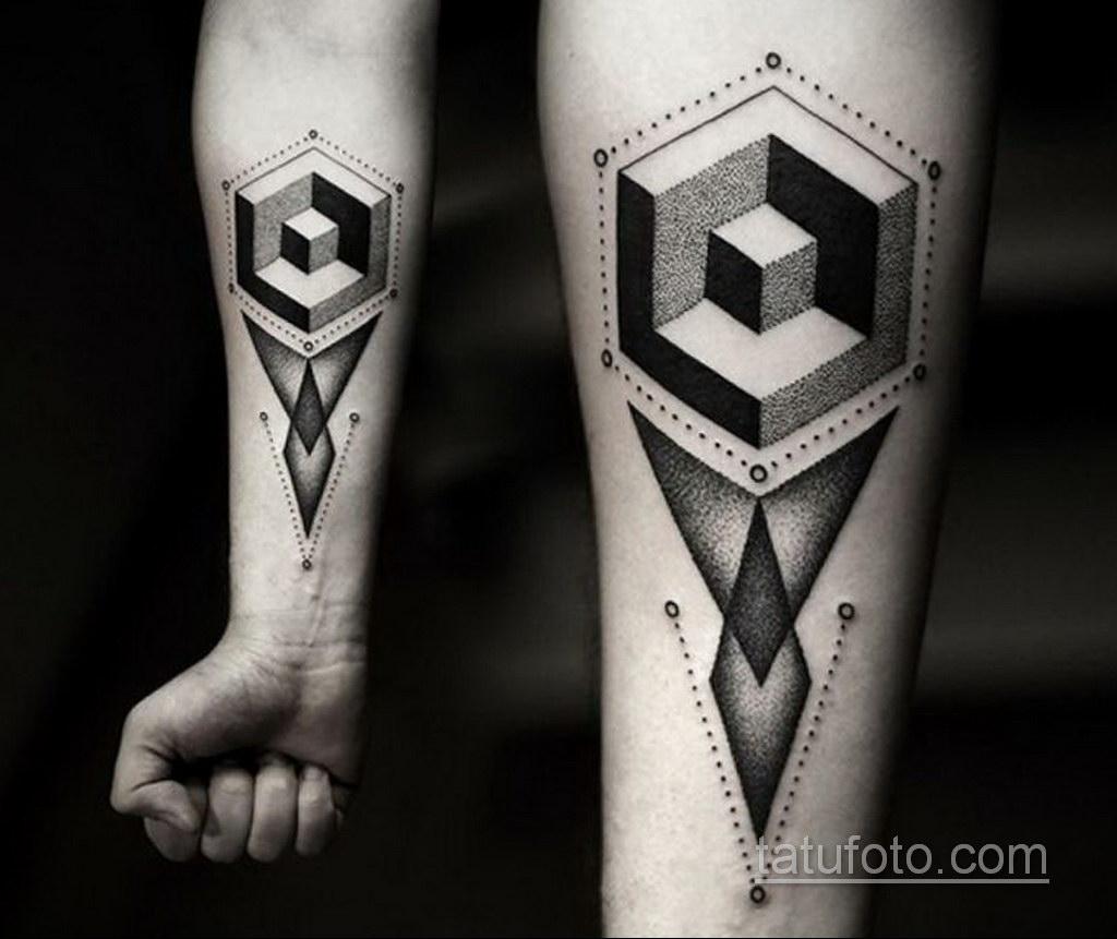татуировки на предплечье геометрия 25.10.2020 №035 -forearm tattoo- tatufoto.com
