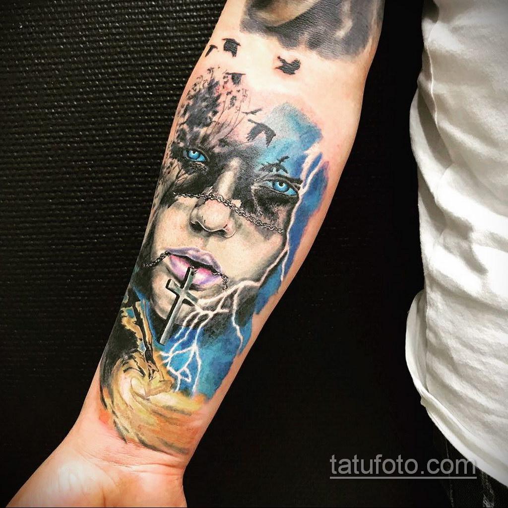 татуировки на предплечье цветная 25.10.2020 №044 -forearm tattoo- tatufoto.com