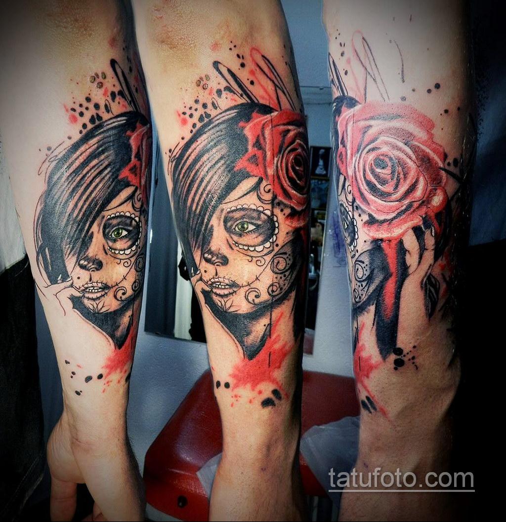 татуировки на предплечье цветная 25.10.2020 №045 -forearm tattoo- tatufoto.com
