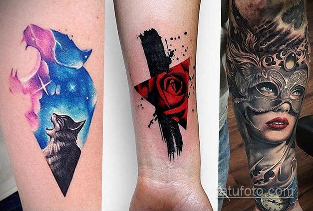 татуировки на предплечье цветная 25.10.2020 №053 -forearm tattoo- tatufoto.com