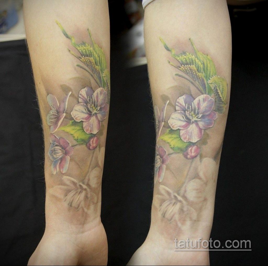 татуировки цветов на предплечье 25.10.2020 №003 -forearm tattoo- tatufoto.com