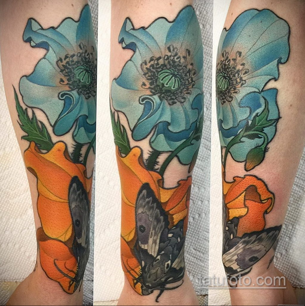 татуировки цветов на предплечье 25.10.2020 №012 -forearm tattoo- tatufoto.com