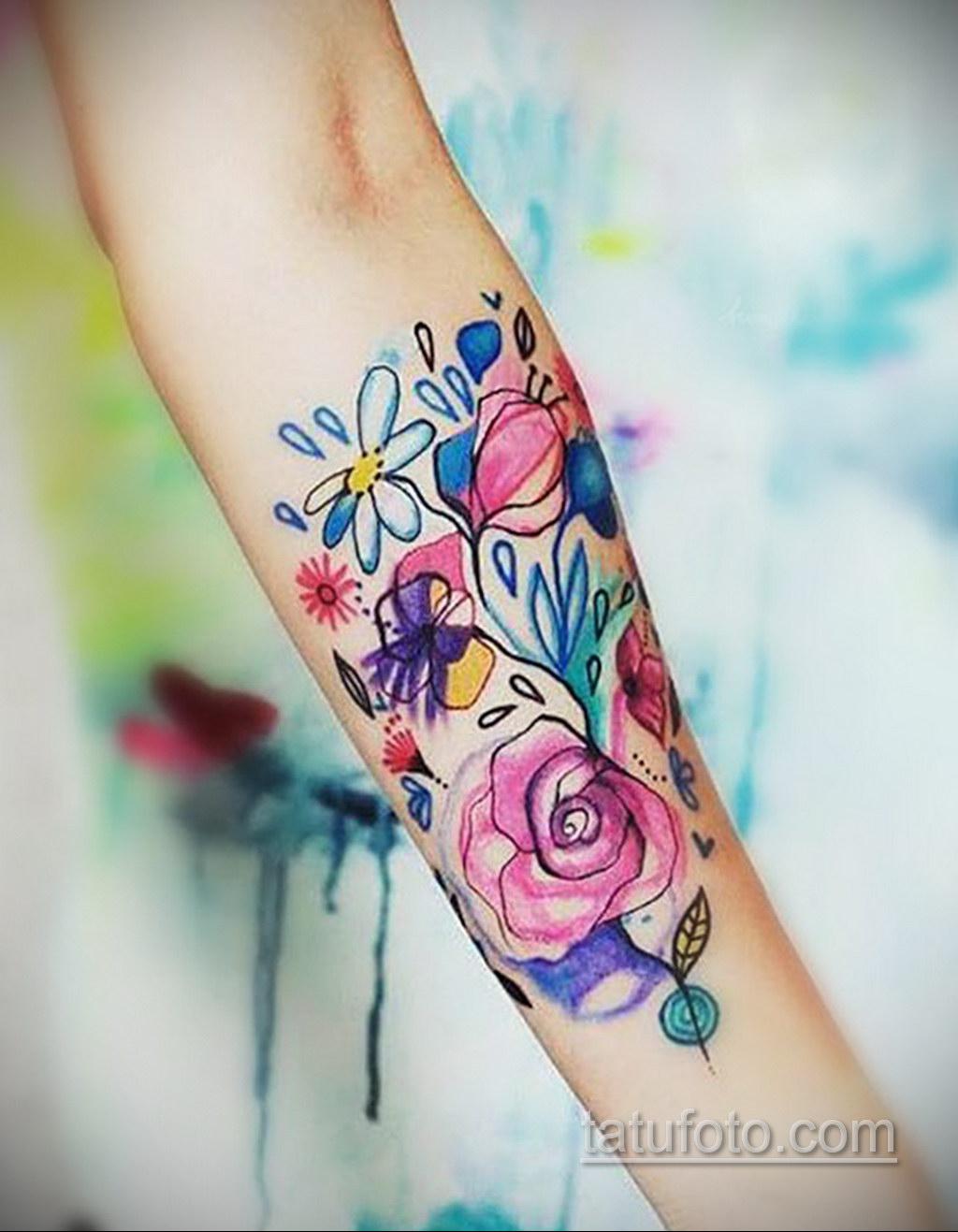 татуировки цветов на предплечье 25.10.2020 №025 -forearm tattoo- tatufoto.com