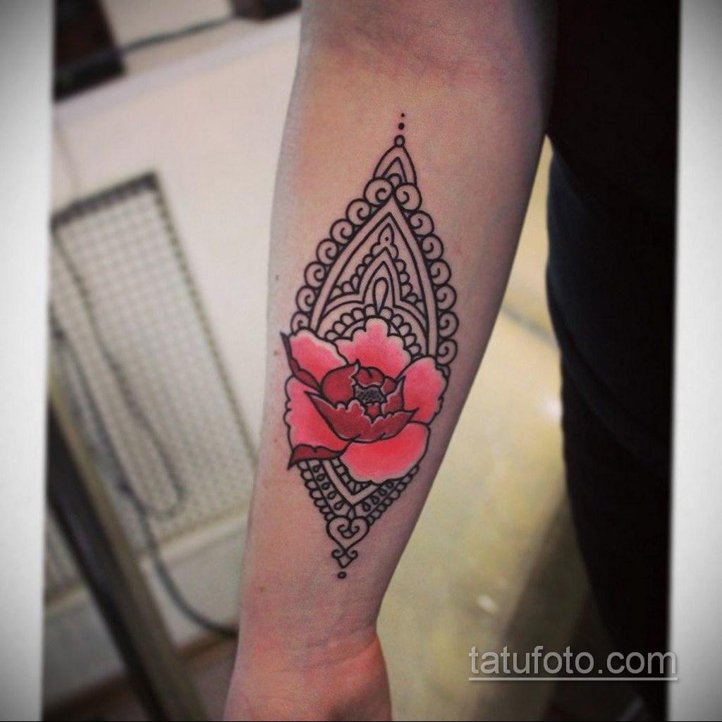 татуировки цветов на предплечье 25.10.2020 №026 -forearm tattoo- tatufoto.com