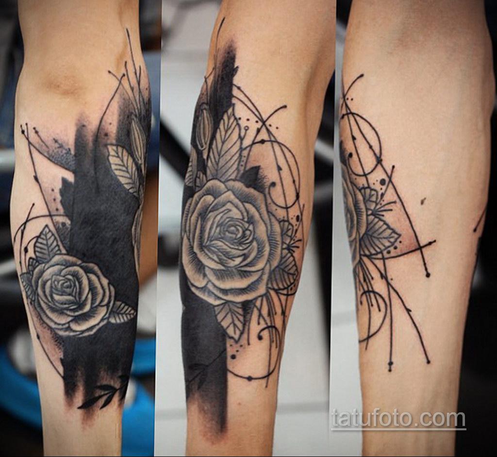 татуировки цветов на предплечье 25.10.2020 №038 -forearm tattoo- tatufoto.com