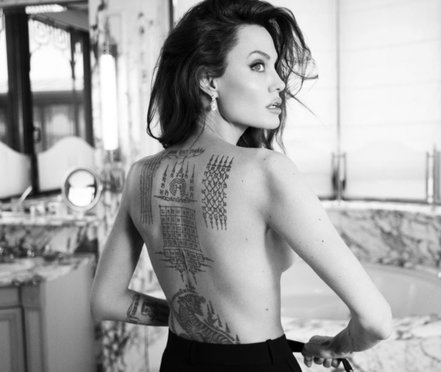 Анджелина Джоли тату - Angelina Jolie tattoo - фото 5