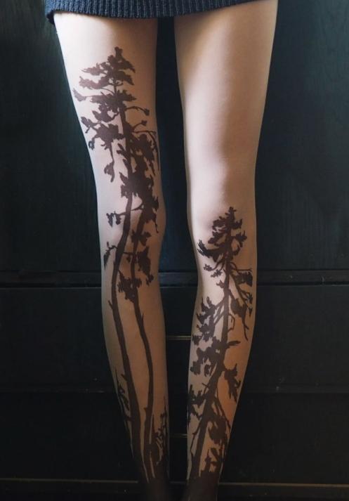 Временная татуировка на колготках - фото 4