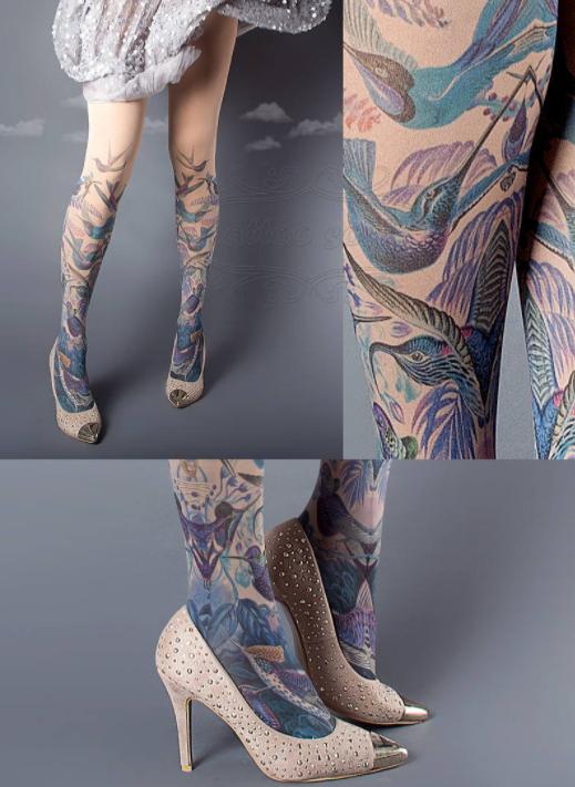 Временная татуировка на колготках - фото 5