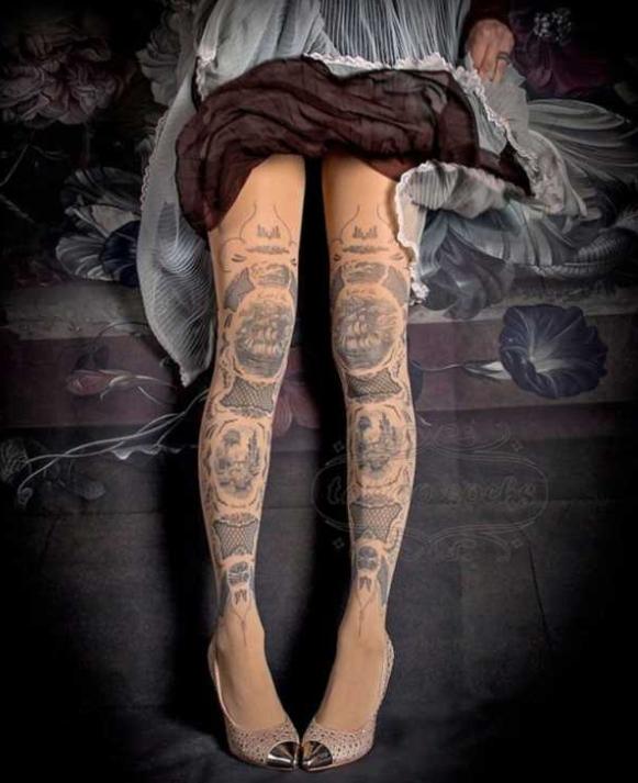 Временная татуировка на колготках - фото 6