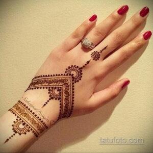 Простой рисунок хной 28.11.2020 №240 -Simple henna drawing- tatufoto.com
