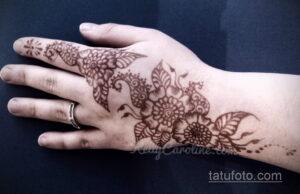 Простой рисунок хной 28.11.2020 №241 -Simple henna drawing- tatufoto.com