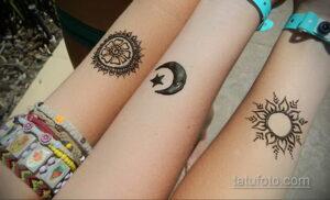 Простой рисунок хной 28.11.2020 №259 -Simple henna drawing- tatufoto.com