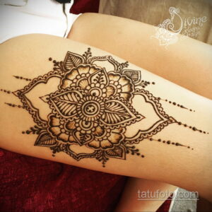 Простой рисунок хной 28.11.2020 №263 -Simple henna drawing- tatufoto.com