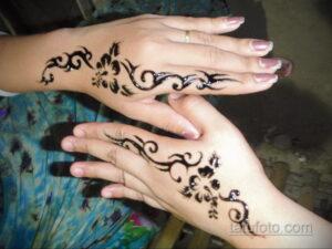 Простой рисунок хной 28.11.2020 №266 -Simple henna drawing- tatufoto.com