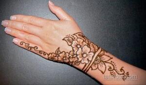 Простой рисунок хной 28.11.2020 №274 -Simple henna drawing- tatufoto.com