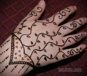 Простой рисунок хной 28.11.2020 №276 -Simple henna drawing- tatufoto.com