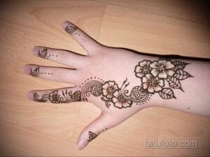 Простой рисунок хной 28.11.2020 №281 -Simple henna drawing- tatufoto.com