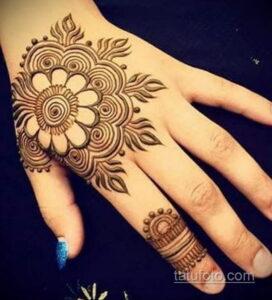 Простой рисунок хной 28.11.2020 №283 -Simple henna drawing- tatufoto.com