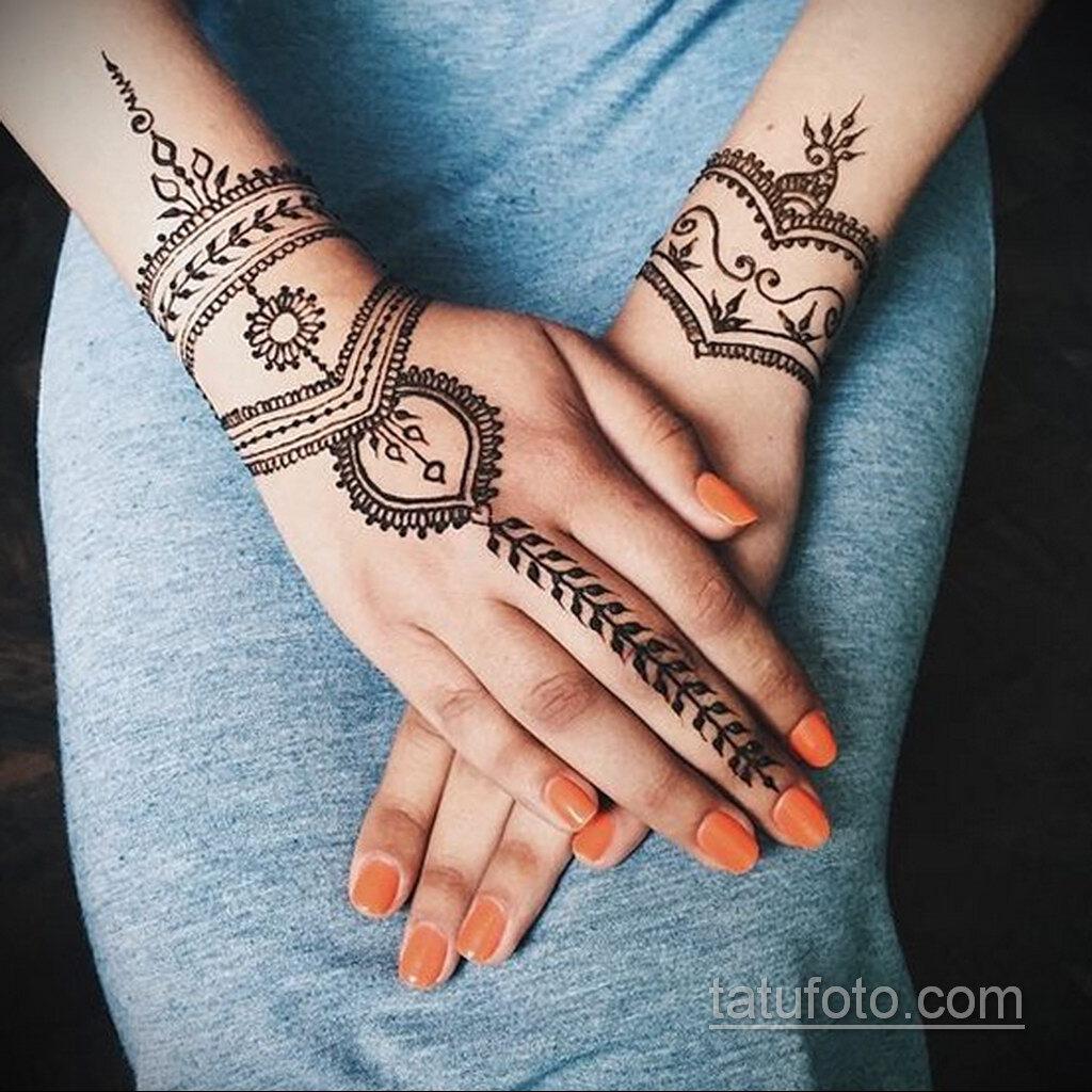 Простой рисунок хной 28.11.2020 №298 -Simple henna drawing- tatufoto.com