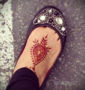 Простой рисунок хной 28.11.2020 №300 -Simple henna drawing- tatufoto.com