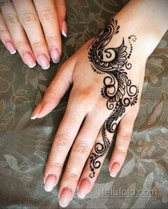Простой рисунок хной 28.11.2020 №301 -Simple henna drawing- tatufoto.com