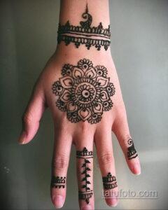 Простой рисунок хной 28.11.2020 №304 -Simple henna drawing- tatufoto.com