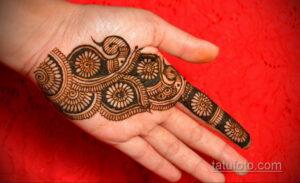 Простой рисунок хной 28.11.2020 №309 -Simple henna drawing- tatufoto.com
