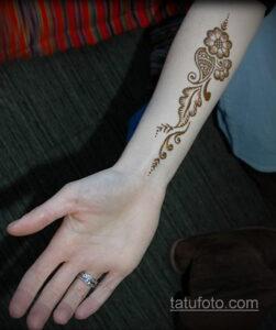 Простой рисунок хной 28.11.2020 №311 -Simple henna drawing- tatufoto.com