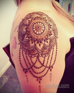 Рисунок тату хной для девушки 28.11.2020 №001 -henna tattoo for girl- tatufoto.com
