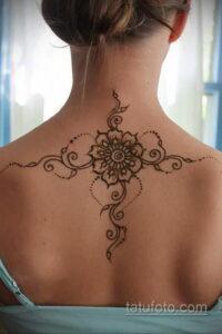 Рисунок тату хной для девушки 28.11.2020 №009 -henna tattoo for girl- tatufoto.com