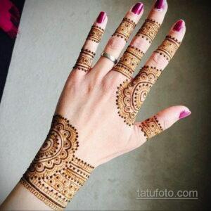 Рисунок тату хной для девушки 28.11.2020 №012 -henna tattoo for girl- tatufoto.com
