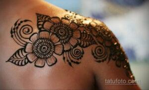 Рисунок тату хной для девушки 28.11.2020 №014 -henna tattoo for girl- tatufoto.com