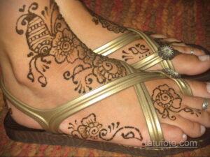 Рисунок тату хной для девушки 28.11.2020 №020 -henna tattoo for girl- tatufoto.com