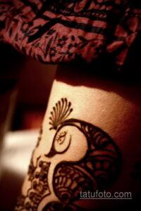 Рисунок тату хной для девушки 28.11.2020 №022 -henna tattoo for girl- tatufoto.com