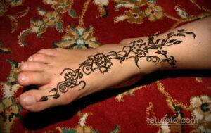 Рисунок тату хной для девушки 28.11.2020 №026 -henna tattoo for girl- tatufoto.com
