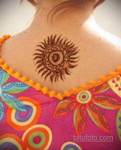 Рисунок тату хной для девушки 28.11.2020 №029 -henna tattoo for girl- tatufoto.com