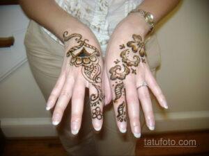 Рисунок тату хной для девушки 28.11.2020 №032 -henna tattoo for girl- tatufoto.com