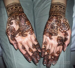 Рисунок тату хной для девушки 28.11.2020 №033 -henna tattoo for girl- tatufoto.com