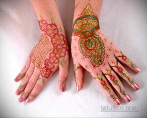 Рисунок тату хной для девушки 28.11.2020 №034 -henna tattoo for girl- tatufoto.com
