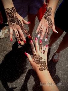 Рисунок тату хной для девушки 28.11.2020 №038 -henna tattoo for girl- tatufoto.com