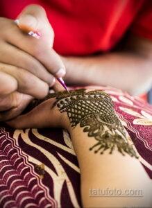 Рисунок тату хной для девушки 28.11.2020 №039 -henna tattoo for girl- tatufoto.com