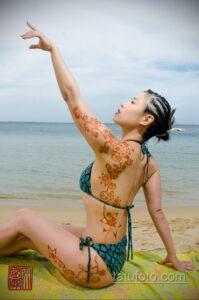 Рисунок тату хной для девушки 28.11.2020 №040 -henna tattoo for girl- tatufoto.com