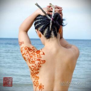 Рисунок тату хной для девушки 28.11.2020 №041 -henna tattoo for girl- tatufoto.com