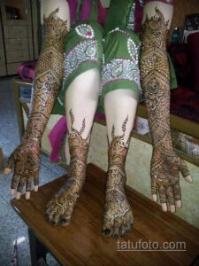 Рисунок тату хной для девушки 28.11.2020 №042 -henna tattoo for girl- tatufoto.com